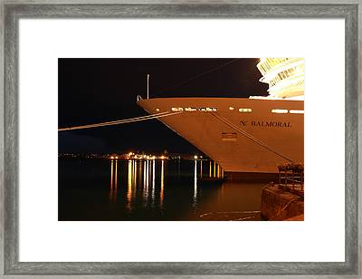 Close Up Cruise Liner At Cobh In Co. Cork Framed Print by Maeve O Connell