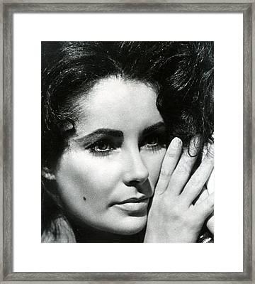 Elizabeth Taylor Framed Print by Retro Images Archive