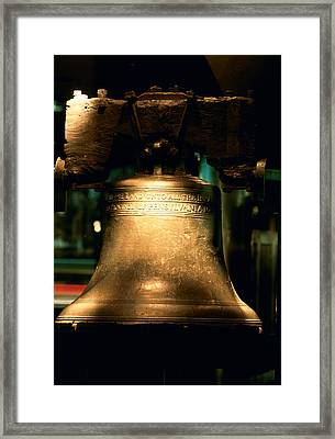 Close-up Of A Bell, Liberty Bell Framed Print by Panoramic Images