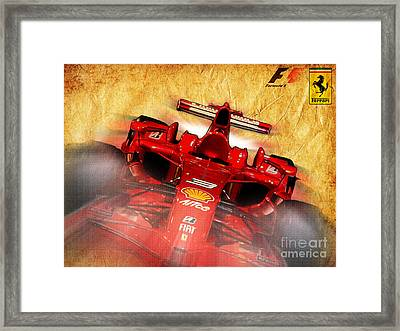 Close-up Of A Ferrari Framed Print by Stefano Senise