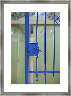 Close-up Of A Gate, Ein Hod, North Framed Print