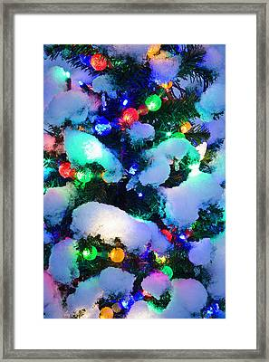 Close Up Of A Multi-colored Christmas Framed Print by Kevin Smith