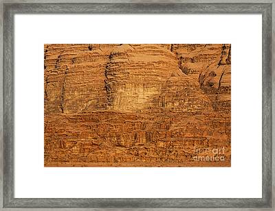 Close Up Of A Rocky Outcrop At Wadi Rum In Jordan Framed Print by Robert Preston