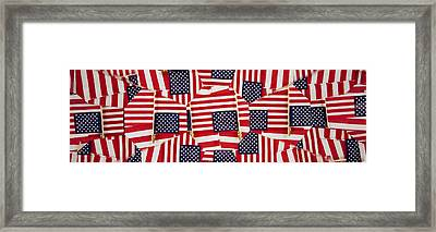 Close-up Of American Flags Framed Print by Panoramic Images