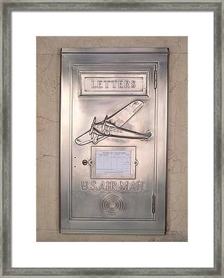 Close-up Of Art Deco Metal Mailbox, Two Framed Print by Panoramic Images