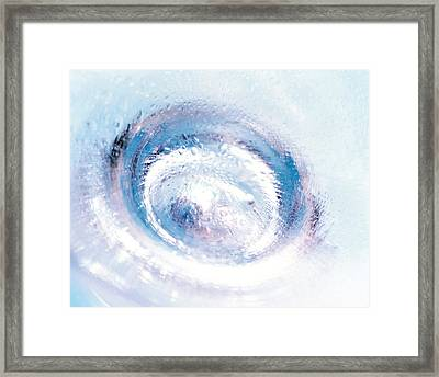 Close Up Of Blown Glass Bottle Bottom Framed Print by Panoramic Images
