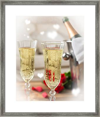 Close Up Of Champagne Framed Print by Amanda Elwell