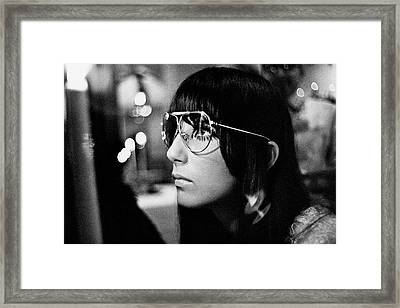 Close Up Of Cher Framed Print by Arnaud de Rosnay
