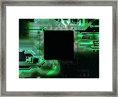 Close-up Of Circuit Board Framed Print by Paul Hartmann Paludo / Eyeem