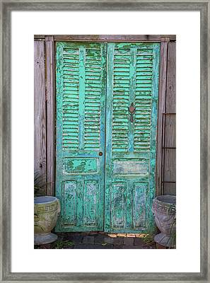 Close-up Of Closed Door Of A House, St Framed Print by Panoramic Images