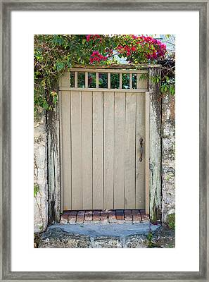 Close-up Of Closed Gate Of A House, St Framed Print by Panoramic Images