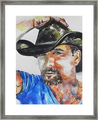 Country Singer Tim Mcgraw 01 Framed Print