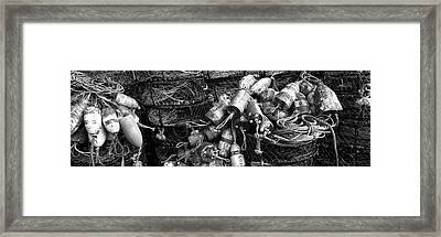 Close-up Of Crab Pots, Humboldt County Framed Print by Panoramic Images