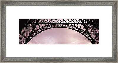 Close Up Of Eiffel Tower, Paris, France Framed Print