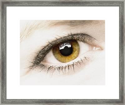 Close Up Of Eye Framed Print
