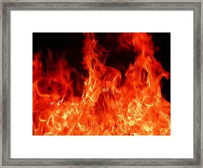 Close-up Of Fire Framed Print by Alex Henley / Eyeem