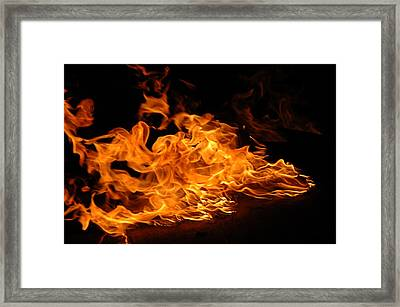 Close Up Of Flame Framed Print by Christopher Murray / Eyeem
