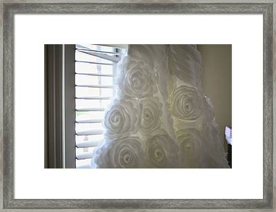 Close-up Of Flower Wedding Dress Framed Print by Mike Hope