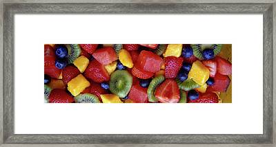 Close-up Of Fruit Salad Framed Print by Panoramic Images