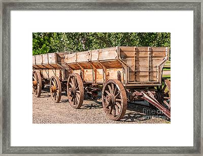 Close-up Of Grain Wagons Framed Print