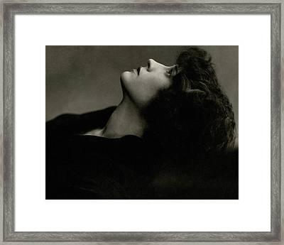 Close Up Of Helen Menken Framed Print by Edward Steichen