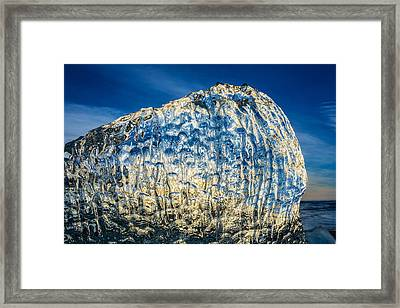 Close Up Of Ice. Ice Formations Come Framed Print