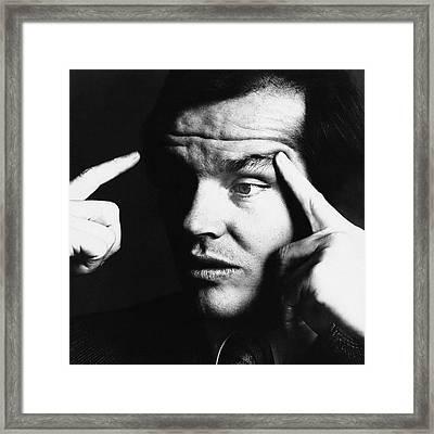 Close Up Of Jack Nicholson Framed Print