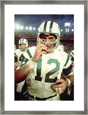 Joe Namath  Framed Print by Retro Images Archive