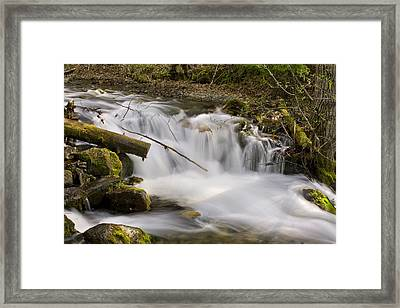 Close Up Of Mchugh Creek Just South Of Framed Print by Michael Criss