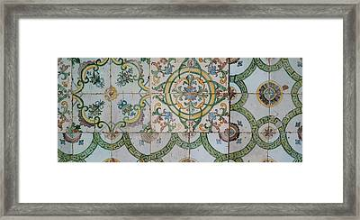 Close-up Of Mosaic Tiles In A Mosque Framed Print