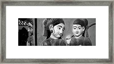 Close-up Of Mural On A Wall, Jaipur Framed Print