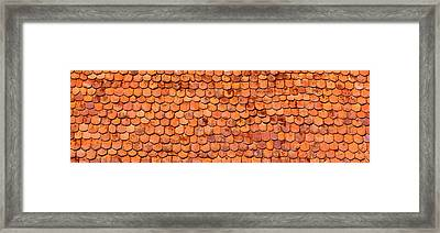 Close-up Of Old Roof Tiles, Rothenburg Framed Print by Panoramic Images