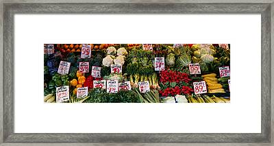 Close-up Of Pike Place Market, Seattle Framed Print by Panoramic Images