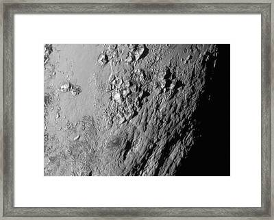 Close-up Of Pluto Framed Print