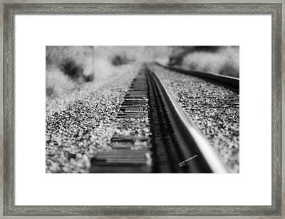 Framed Print featuring the photograph Close Up Of Rail Road Tracks by Karen Kersey