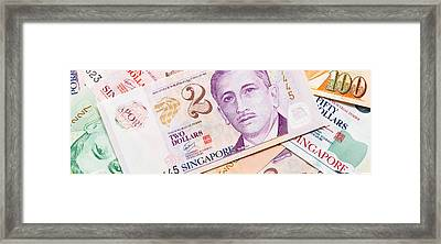 Close-up Of Singaporean Currency Framed Print by Panoramic Images
