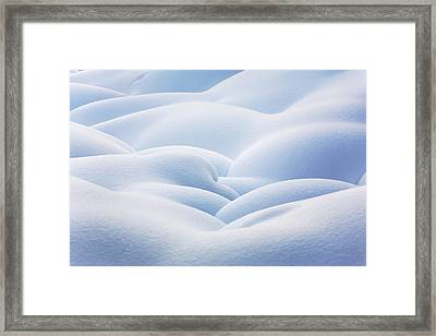 Close Up Of Snow Covered Round Framed Print by Michael Interisano