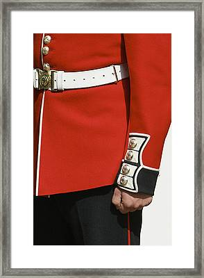 Close Up Of Soldiers Uniform From The Framed Print