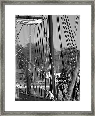 Close Up Of Tall Ship  Framed Print
