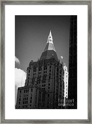 Close Up Of The Top Of The New York Life Insurance Company Tower And Gold Roof New York Framed Print by Joe Fox