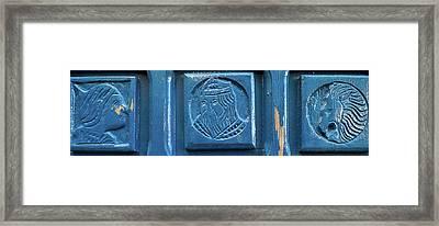 Close-up Of Tiles, Jaffa, Tel Aviv Framed Print