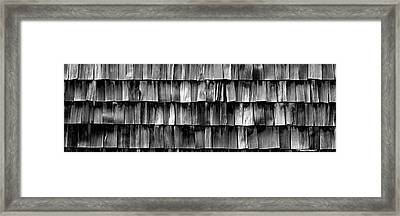 Close-up Of Wooden Shingle, La Conner Framed Print by Panoramic Images