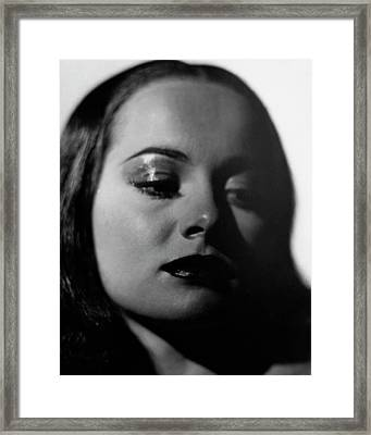 Close-up Portrait Of Olivia De Havilland Framed Print by Alexander Paal