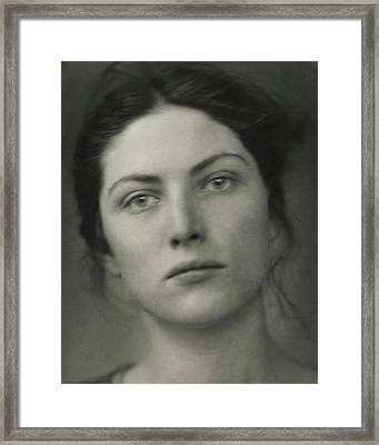 Close-up Portrait Of Winifred Lenihan Framed Print by Edward Steichen