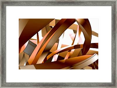 Close-up View Of An Abstract Design Framed Print