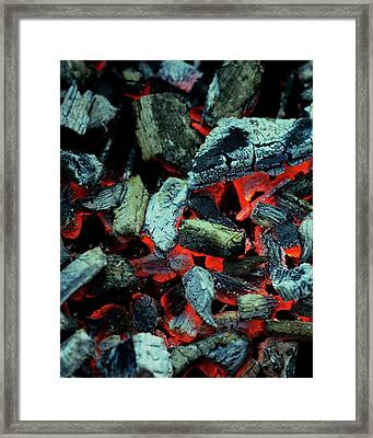 Close-up View Of Charcoal Framed Print