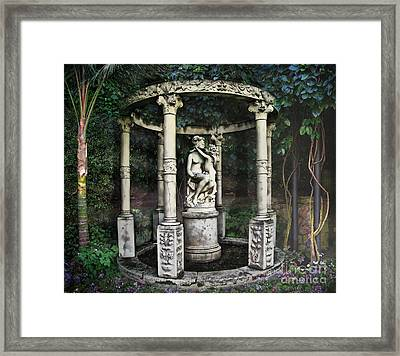 Close Your Eyes And Make A Wish Framed Print by Bedros Awak