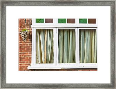 Closed Curtains Framed Print by Tom Gowanlock