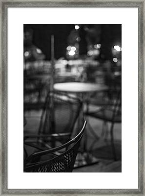 Closed Dining Framed Print by Michael Williams