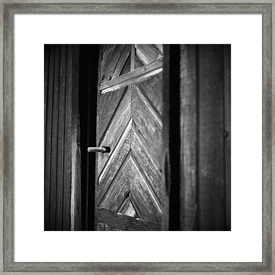Closed Doors Framed Print by Aaron Aldrich
